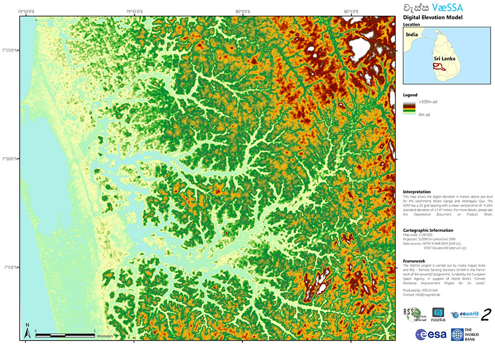 Hydrology, digital terrain model, floods