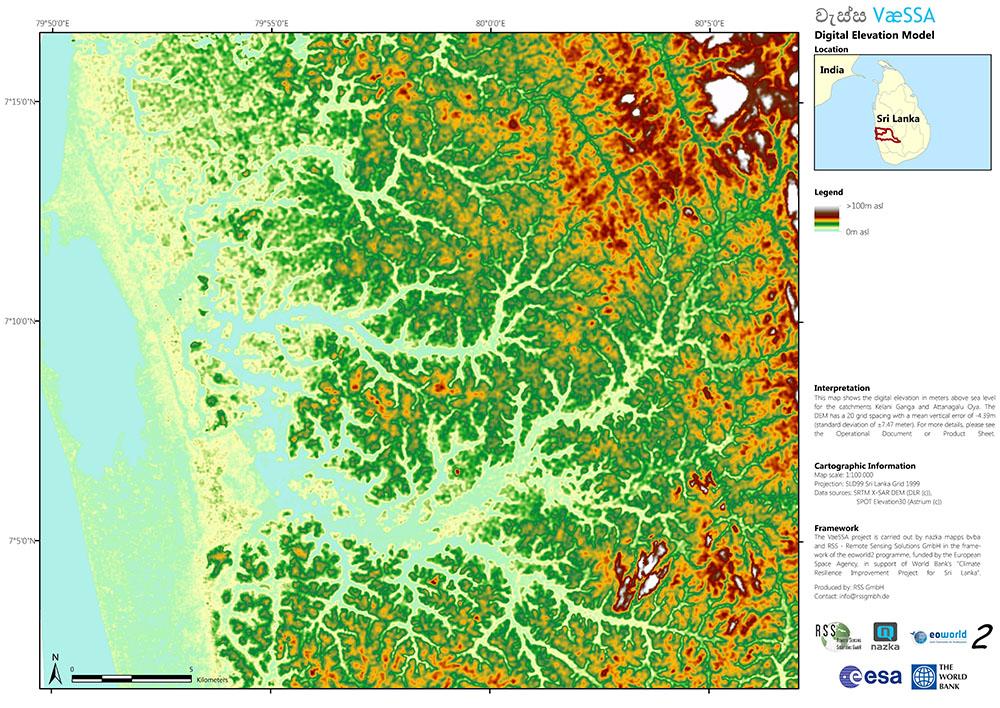 Hydrology, digital terrain model, floods